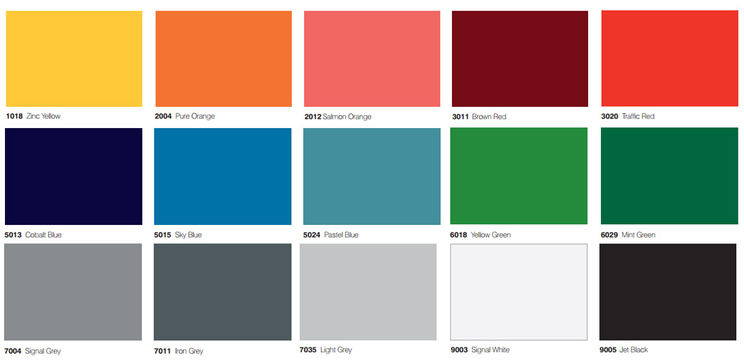 color charts glass laminate