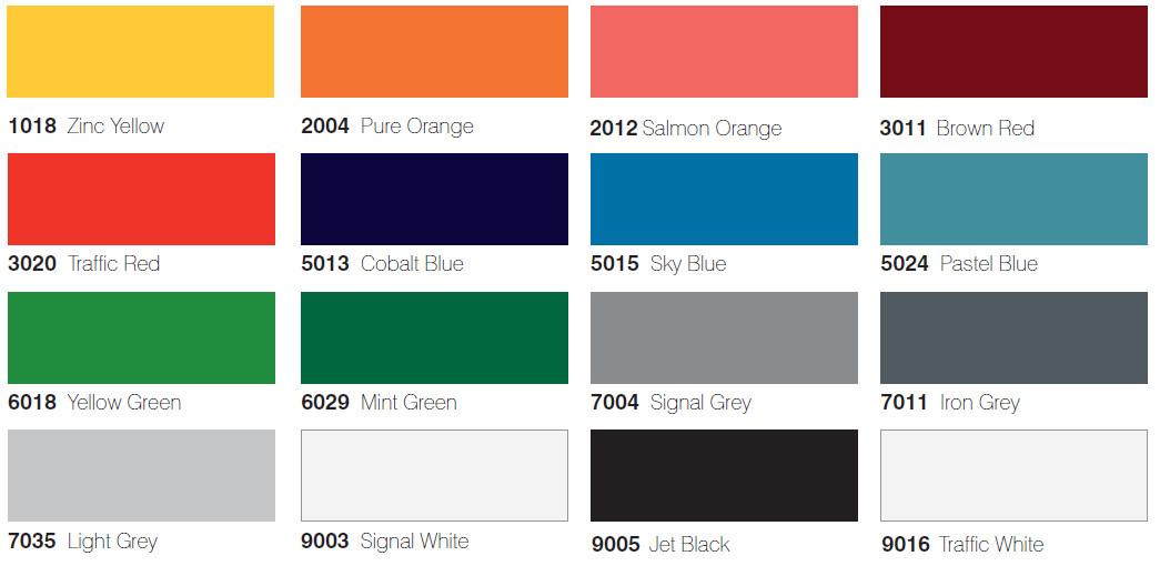 Glass Colour Charts Prospec Colour Charts