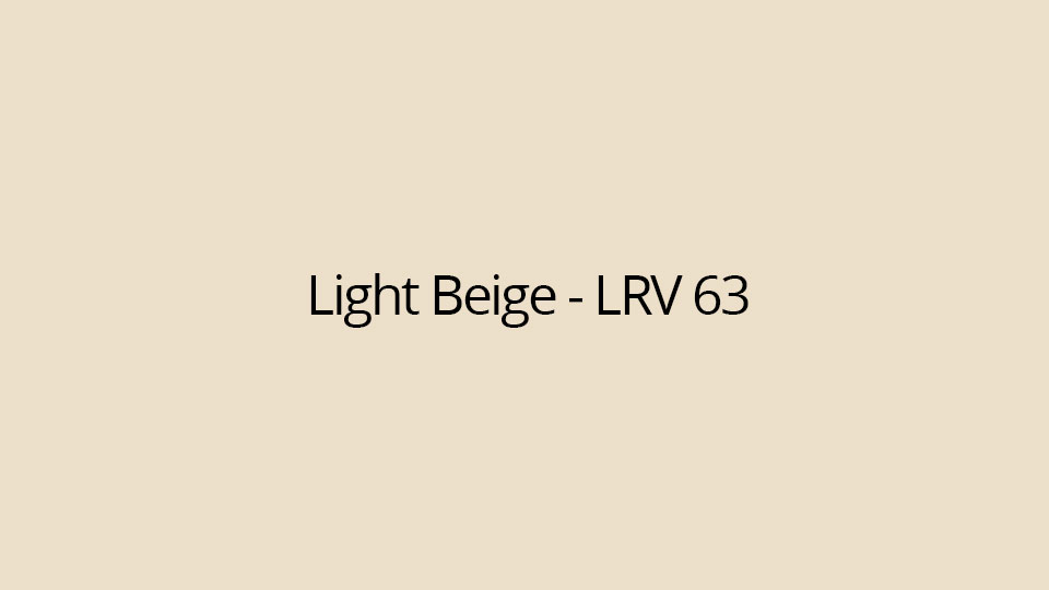 Light Beige - LRV 63